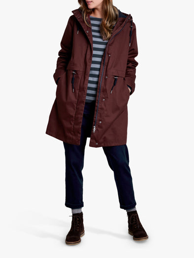 Seasalt All Weather Polperro Burgundy Coat