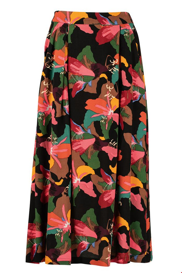 Zilch Lilly Black Midi Skirt