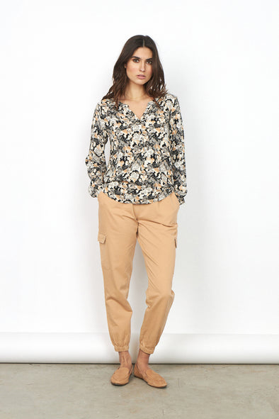 Soya Concept Odessa Sand Printed Blouse