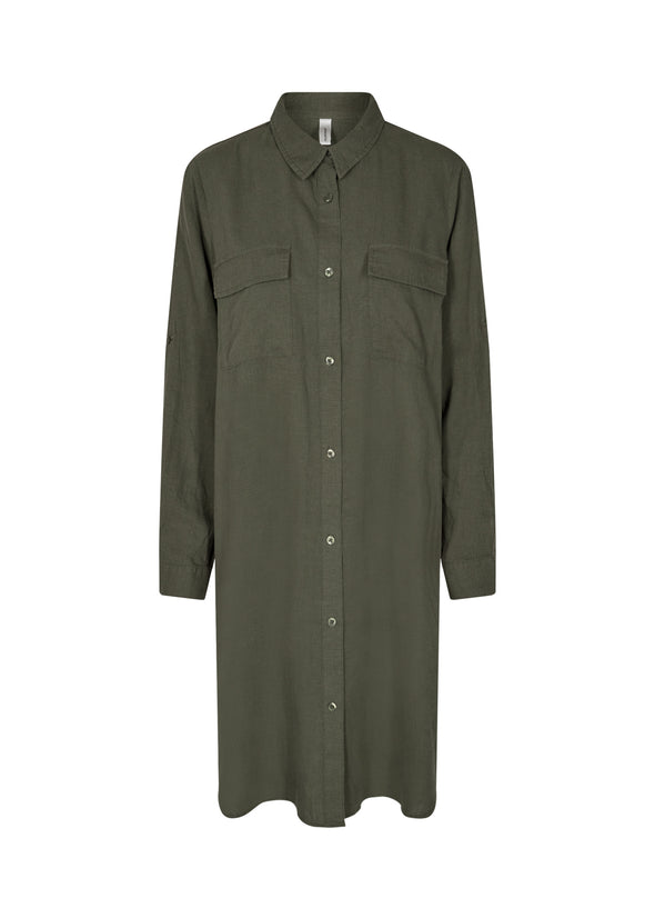 Soya Concept Ina Khaki Dress Shirt