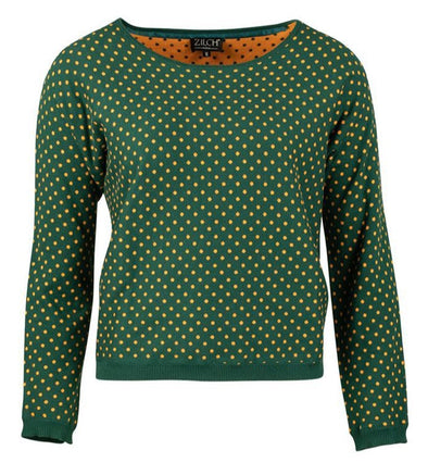 Zilch Dots Forest Sweater