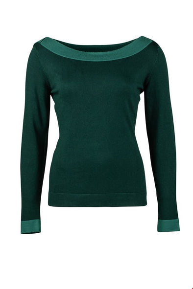 Zilch Forest Boatneck Sweater