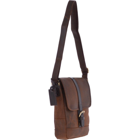 Ashwood Leather Oxford Toby Tornado Brown Body Bag