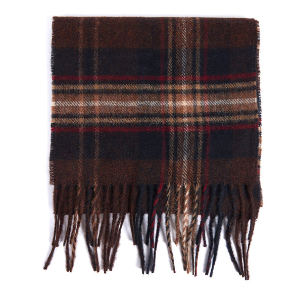 Barbour Brown/Rust Scarf - Abraham Moon UK Design