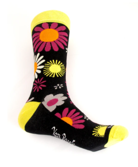 Van Buck Limited Edition Yellow Floral Socks