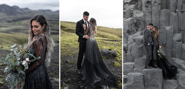 Gorgeous Black Wedding Dresses for the Unconventional Bride