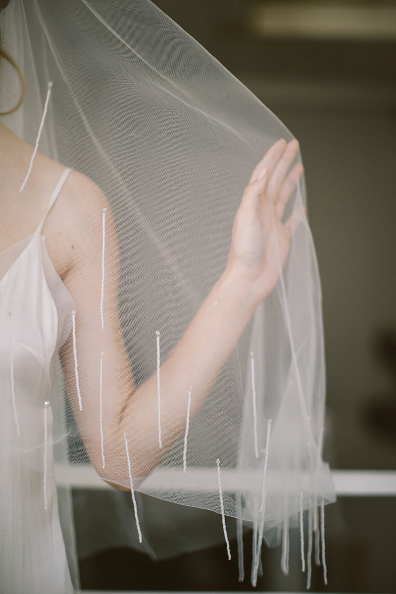 Midnight Raindrops veil