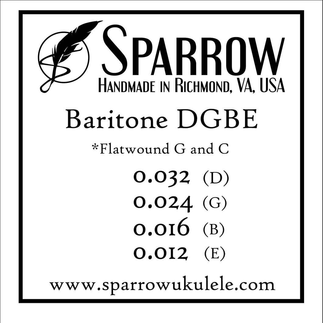 Sparrow Baritone Ukulele Strings