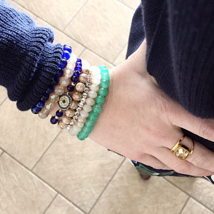 Use these types of bracelets to pull together colors in your outfit for just the right finishing touch!