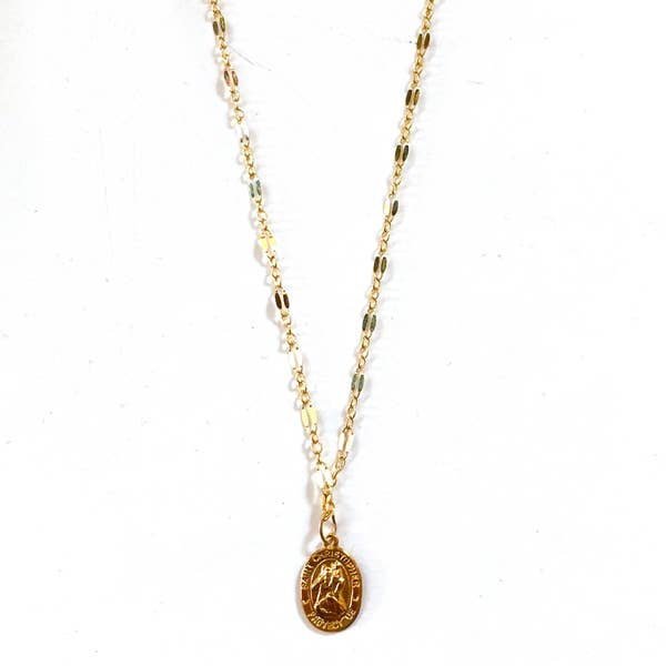 Nikki Smith Designs Shimmering Coin 14K Gold Necklace Accessories - Jewelry - Necklaces - Sophie