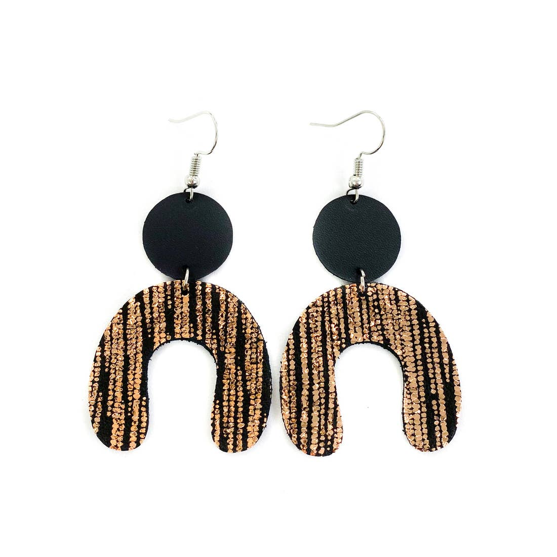 Savvy Bling Arch Leather Earrings Accessories - Jewelry - Earrings - Sophie