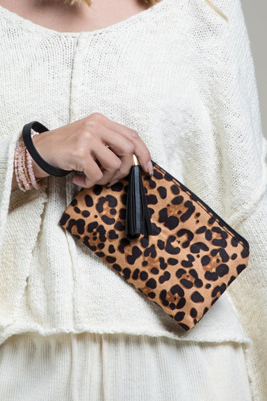 Vegan Animal Print Wristlet - Sophie