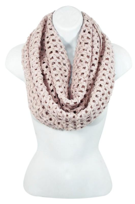Sophie Crochet Sequin Infinity Scarf Unclassified - Sophie
