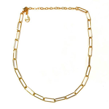 Nikki Smith Designs Sasha Paperclip 14K Gold Choker Accessories - Jewelry - Necklaces - Sophie