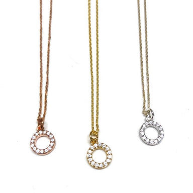 Gem Circle Short Necklace - Sophie