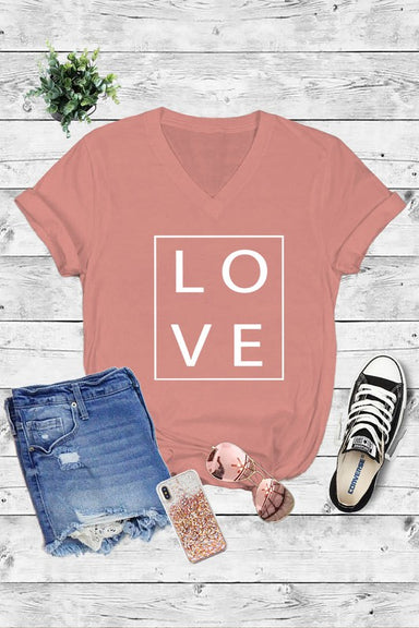 LOVE V-neck Tee - Sophie