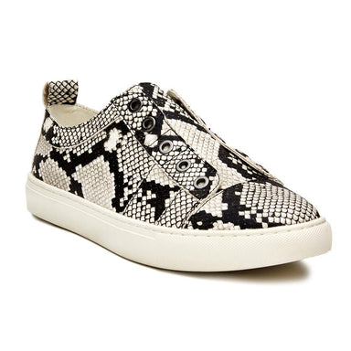 Coconuts by Matisse Someday Lace-less Snake Sneaker Shoes - Flats - Sneakers - Sophie
