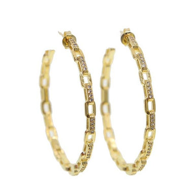 Nikki Smith Designs Tanner Chain Link Hoop Earrings Accessories - Jewelry - Earrings - Sophie