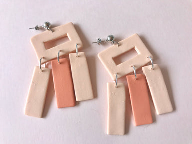 Sun Sprinkles Miami Art Deco Clay Earrings Accessories - Sophie