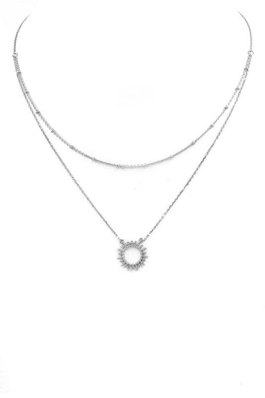 Double Layered Sun Necklace - Sophie