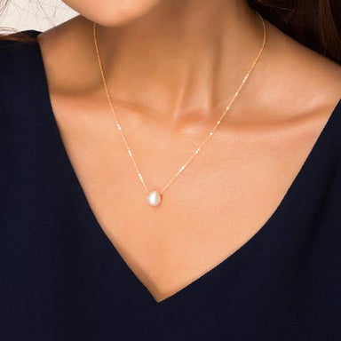 Nikki Smith Designs Floating Freshwater Pearl Necklace Accessories - Jewelry - Necklaces - Sophie