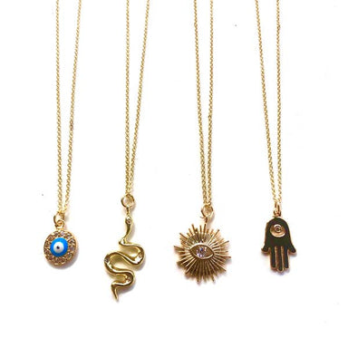 Nikki Smith Designs Parker Short Necklace in Golden Eye Accessories - Jewelry - Necklaces - Sophie