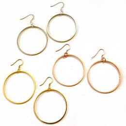 Nikki Smith Designs Classic Modern Hoop Earrings Accessories - Jewelry - Earrings - Sophie
