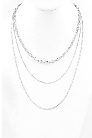 Triple Layered Chain Necklace - Sophie
