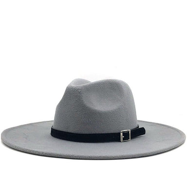 Leather Belt Wide Brim Felt Hat - Sophie
