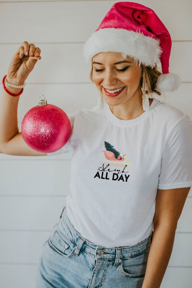 Matty + Lux Sleigh All Day Christmas Graphic Apparel - Tops - Graphics - Sophie