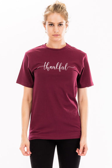 Gray & Bleu Thankful Graphic Tee Apparel - Sophie