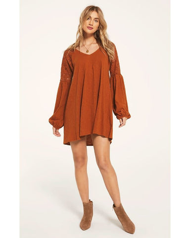 White Crow Genesee Lace Boho Dress in Rich Caramel Apparel - Dresses - Dressy - Sophie