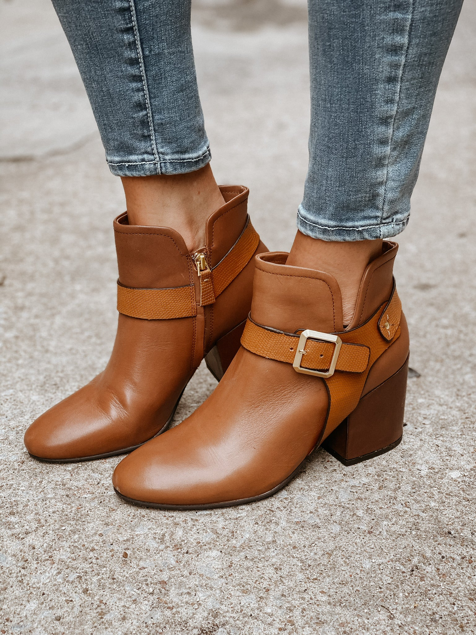Leilani Chunky Heel Ankle Boot - Sophie