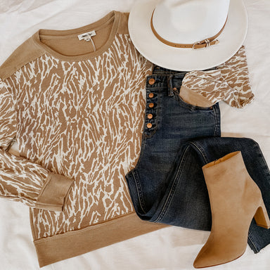 Charley Zebra Print Pullover Sophie Shoes