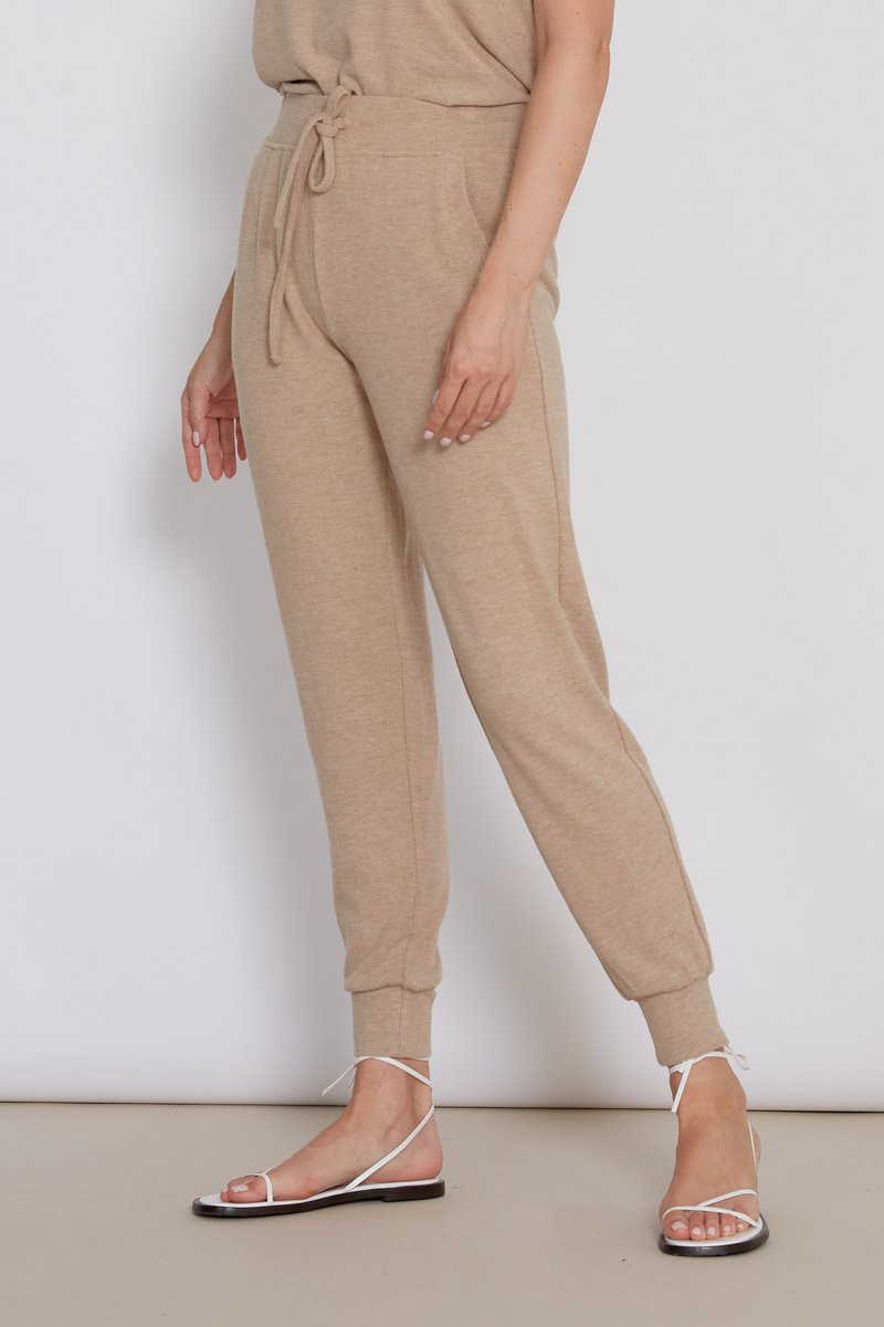 Cory Heather Camel Joggers Side