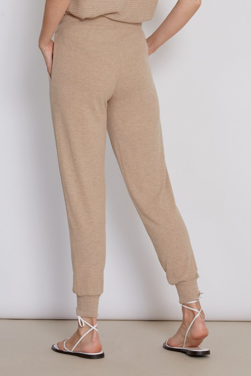 Cory Heather Camel Joggers Back