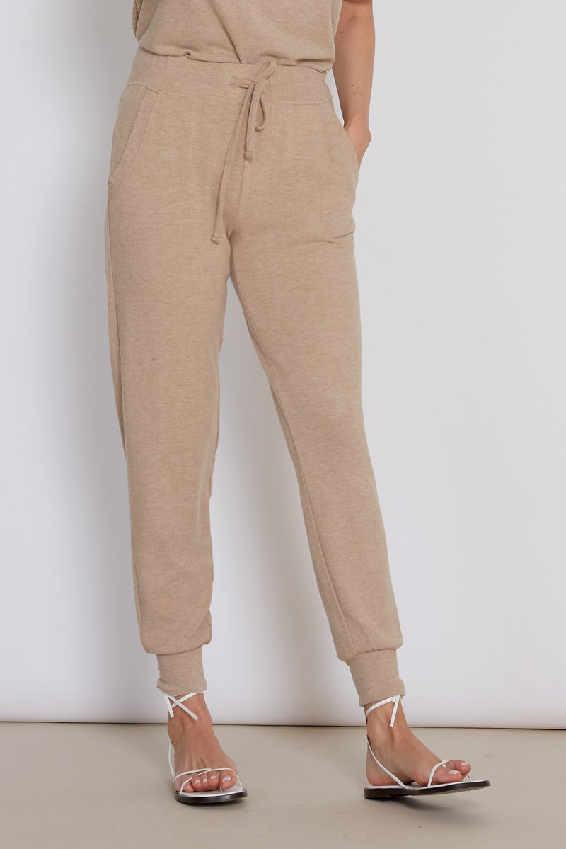 Cory Heather Camel Joggers Front