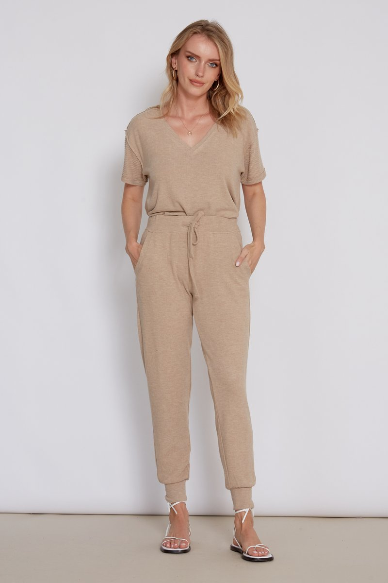 Cory Heather Camel Joggers Full