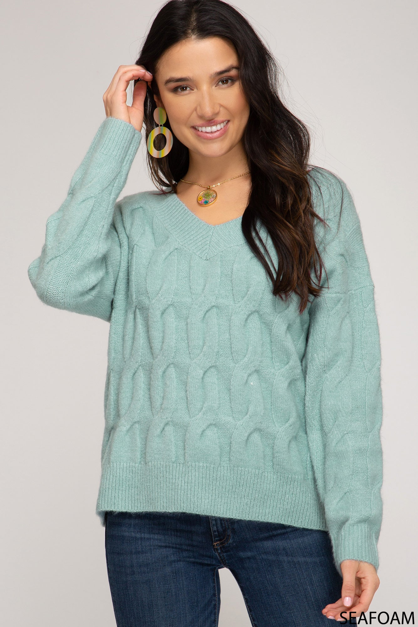 Lindy Cable Knit Sweater