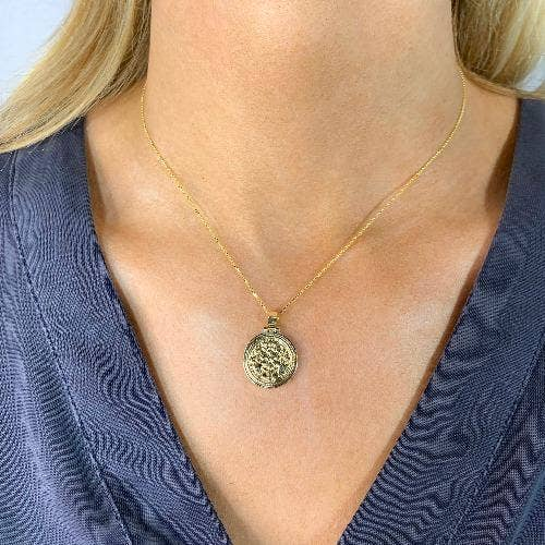 Adina 14K Plated Charm Necklace - Sophie