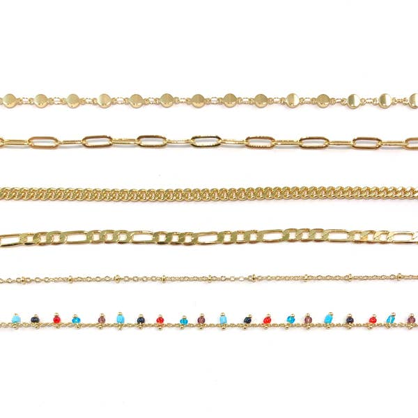 14K Gold Face Mask Chains