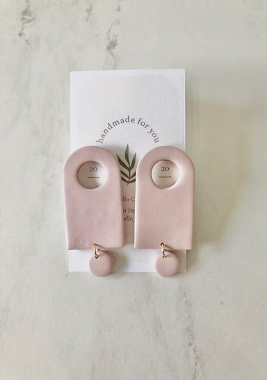 Lila Dangle Clay Earrings - Sophie