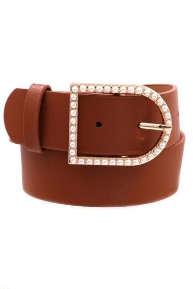 Sophie Classy Pearl Buckle Belt Accessories - Belts - Sophie
