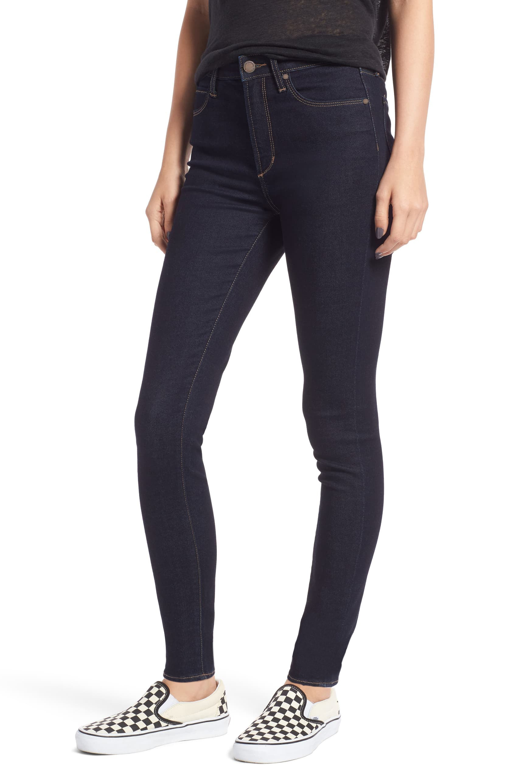 Hilary High Rise Skinny Jeans in Pure Blue - Sophie
