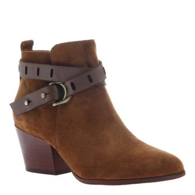 Nicole Francis Leather Ankle Boot in Honey Shoes - Booties - Heeled Booties - Sophie