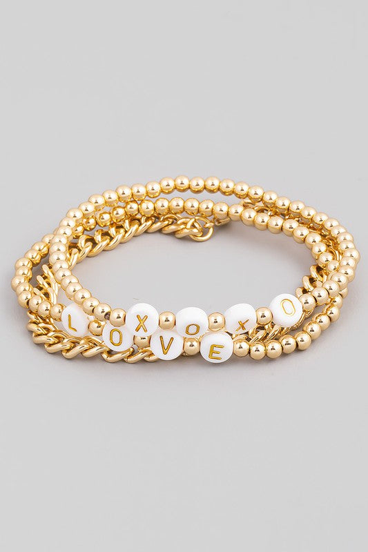 XOXO Love Bracelet Set