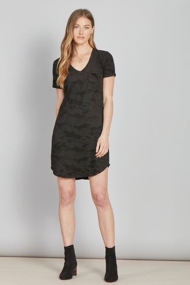 Another Love Cassidy Camo T-Shirt Dress Apparel - Dresses - Casual - Sophie