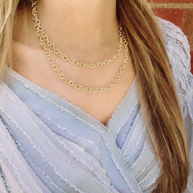 Nikki Smith Designs Ella Double Chain 14K Gold-Filled Necklace Accessories - Jewelry - Necklaces - Sophie