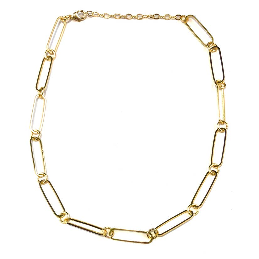 Nikki Smith Designs Ellie Paperclip 14KGold Plated Choker Accessories - Jewelry - Necklaces - Sophie
