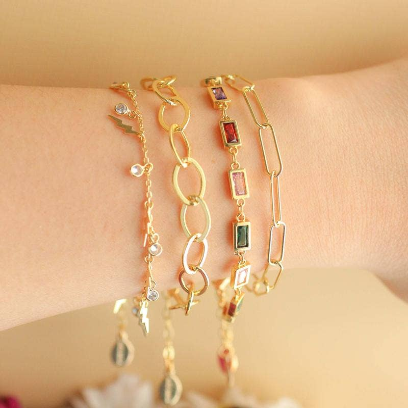 Eloise 14K Gold Plated Chain Bracelet